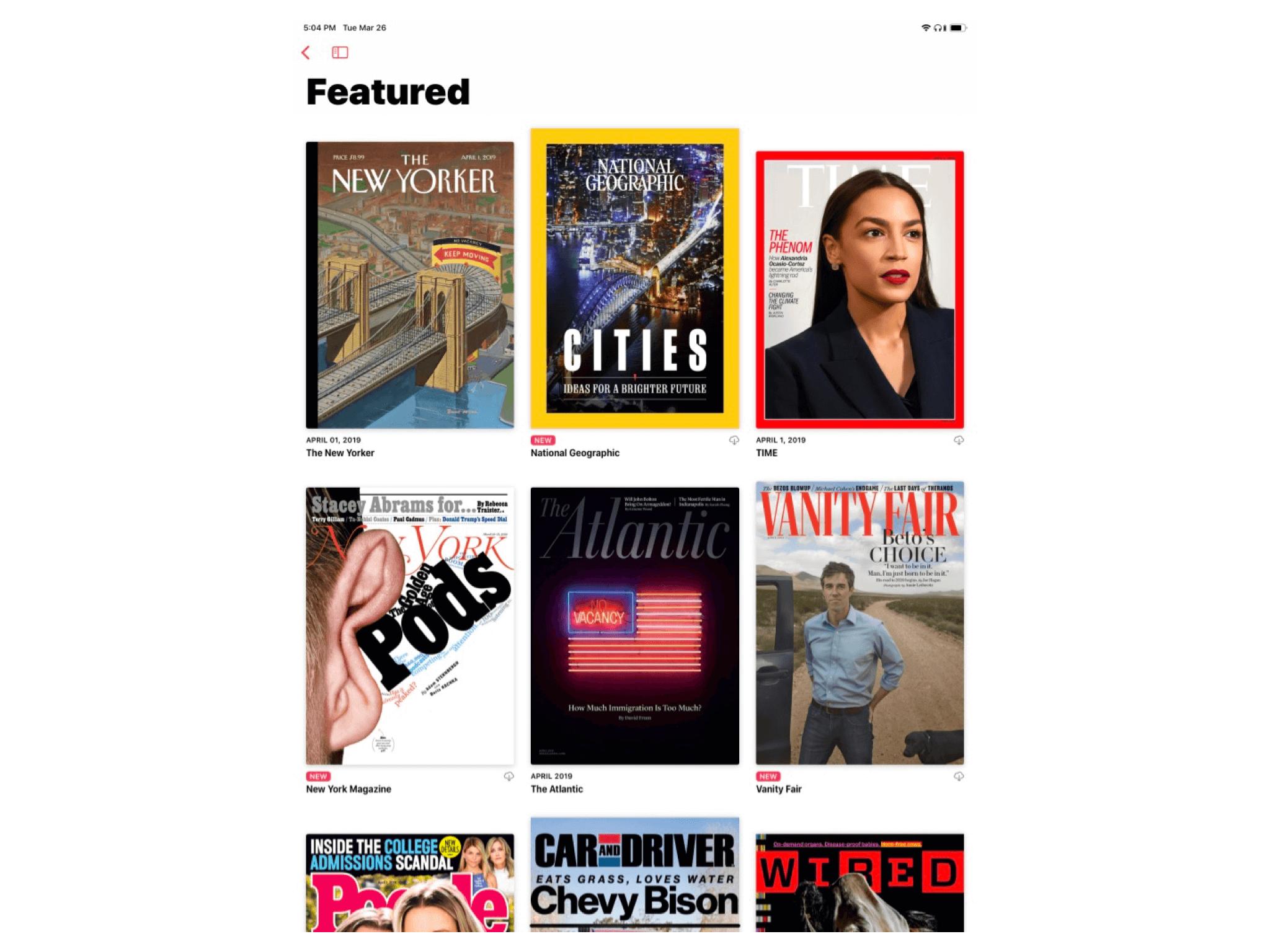 Apple News+ 中的主打杂志,其中很多的封面具有动态效果