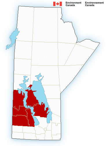 Environment Canada has issued snowfall warnings for the Parkland & Interlake regions.
