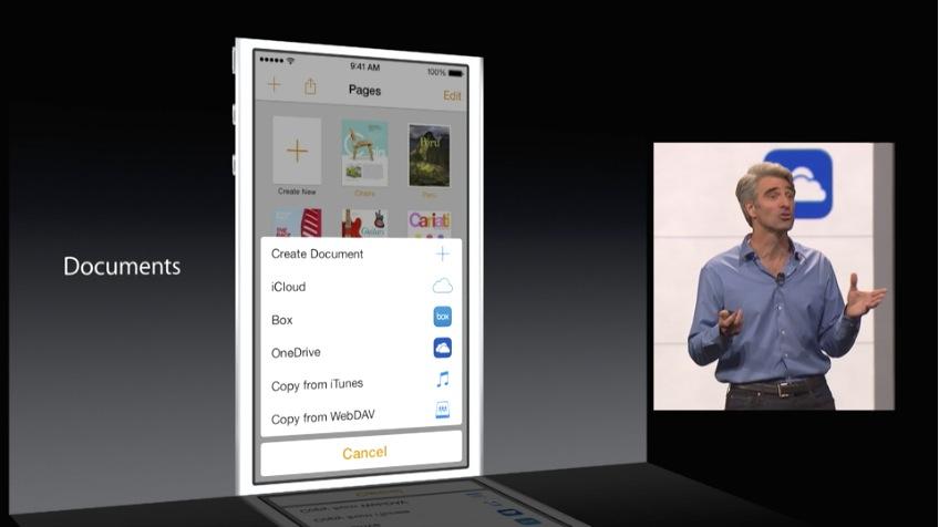 iCloud Drive und Drittanbieter