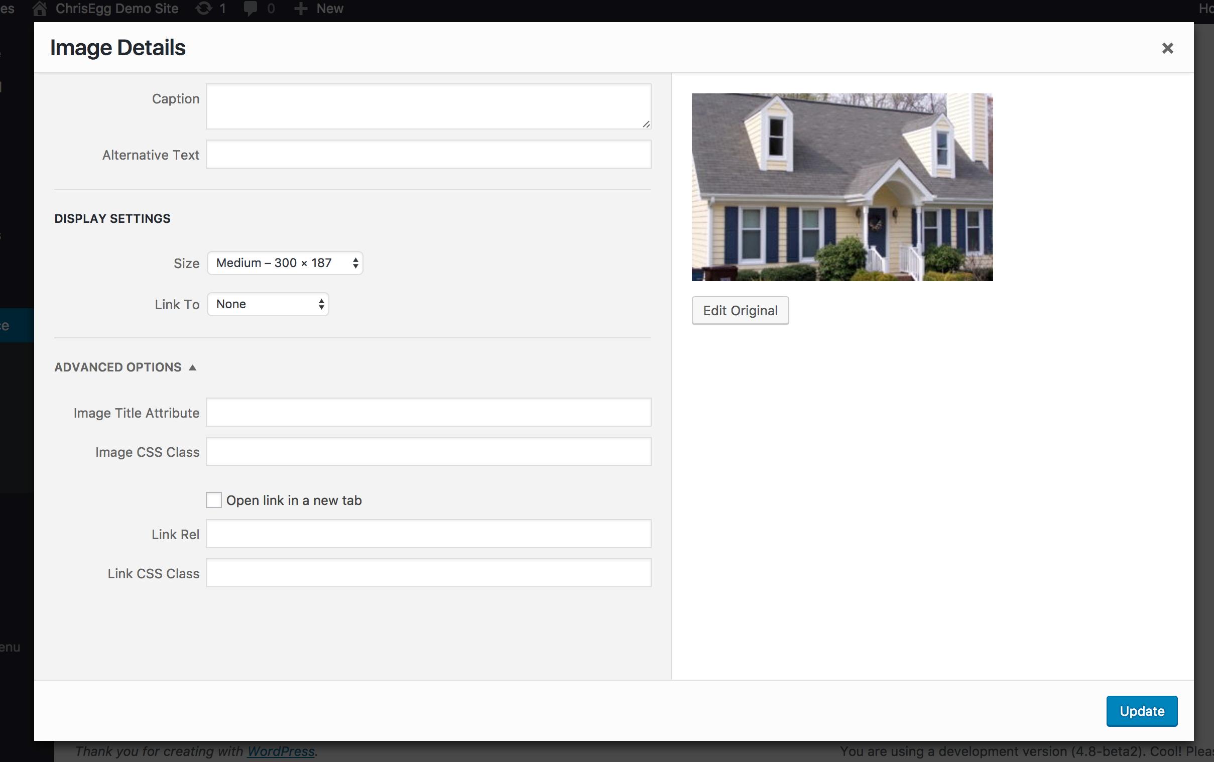 Image Widget WordPress 4.8