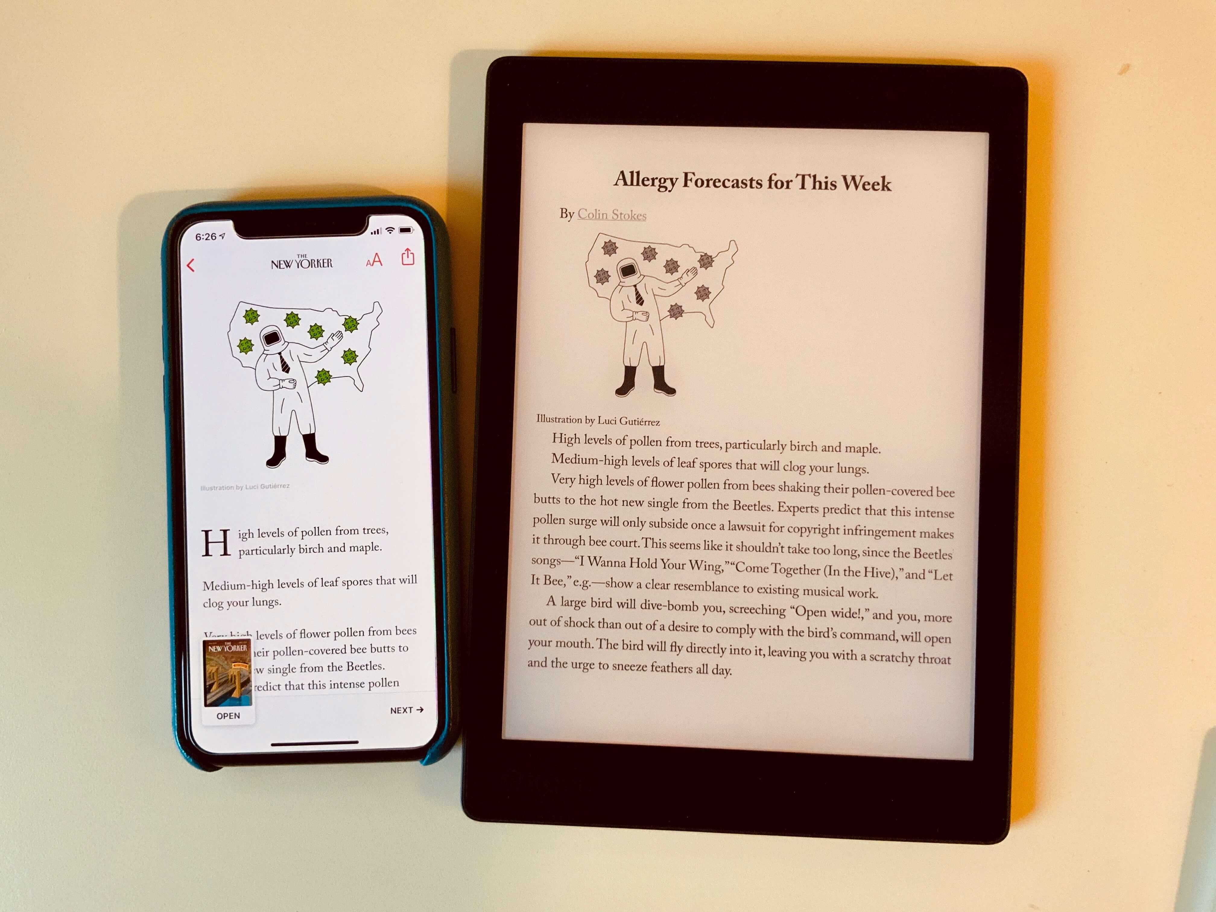 Apple News+ 的高级排版对《纽约客》这类基本都是文字的刊物效果有限