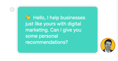 Use chatbots to welcome visitors