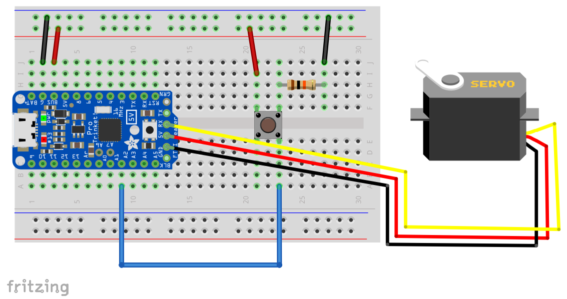 Breadboard with Servo