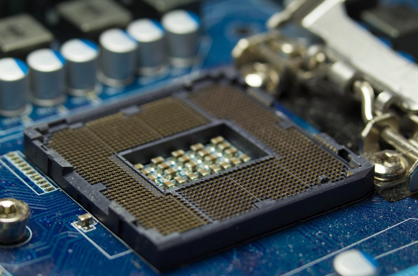 close-up on the new Intel CPU - 8th generation of Intel Processors scheduled for 2019