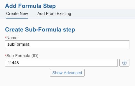 Sub Formula