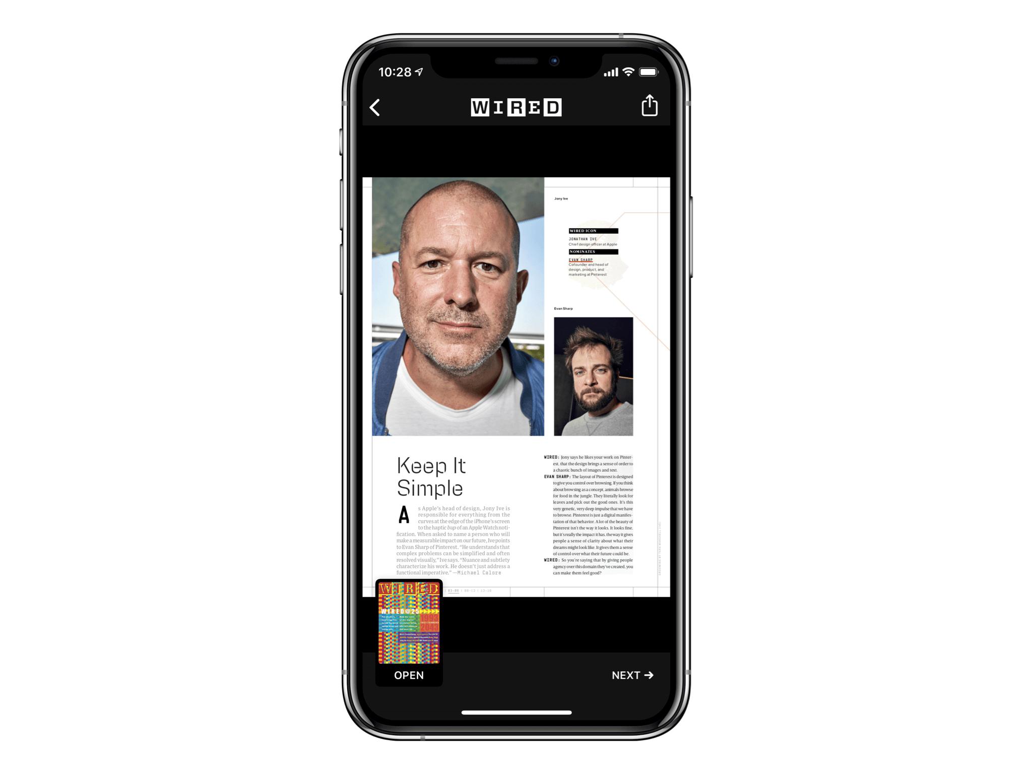 屈尊以 PDF 格式显示在 iPhone 上的 Ive 爵士