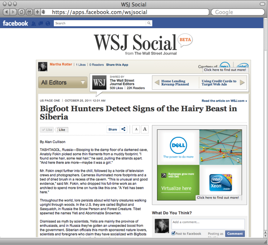 WSJ Social : Article View