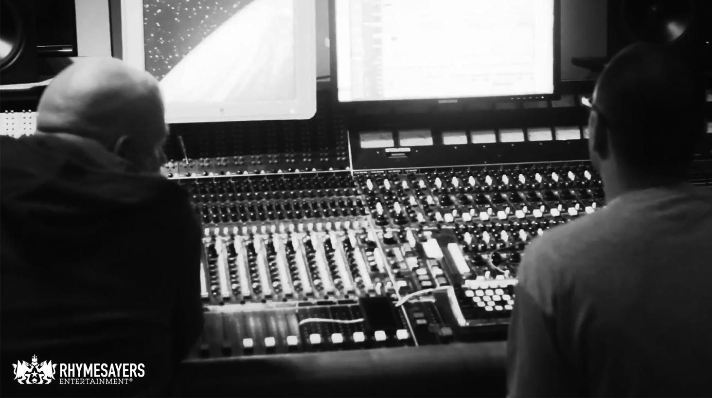 in studio