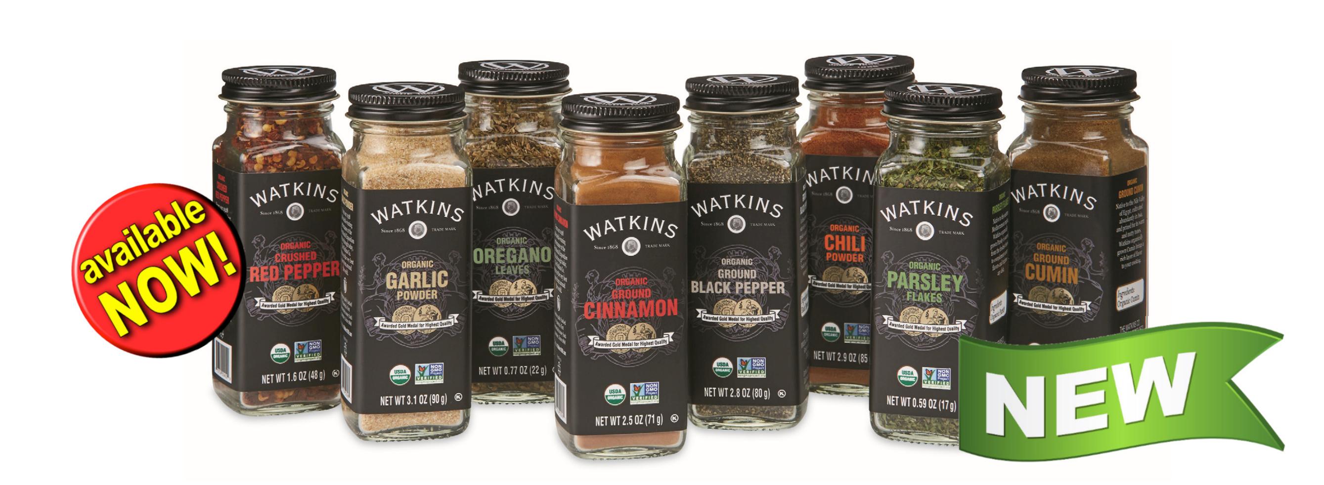 Watkins new organic spices