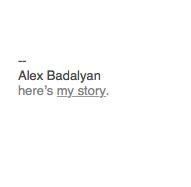Alex Badalyan Email Signature