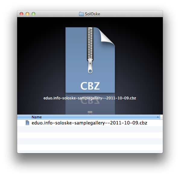 Final CBZ file…