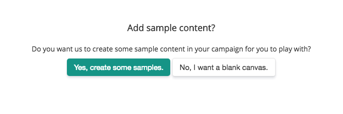 add sample content