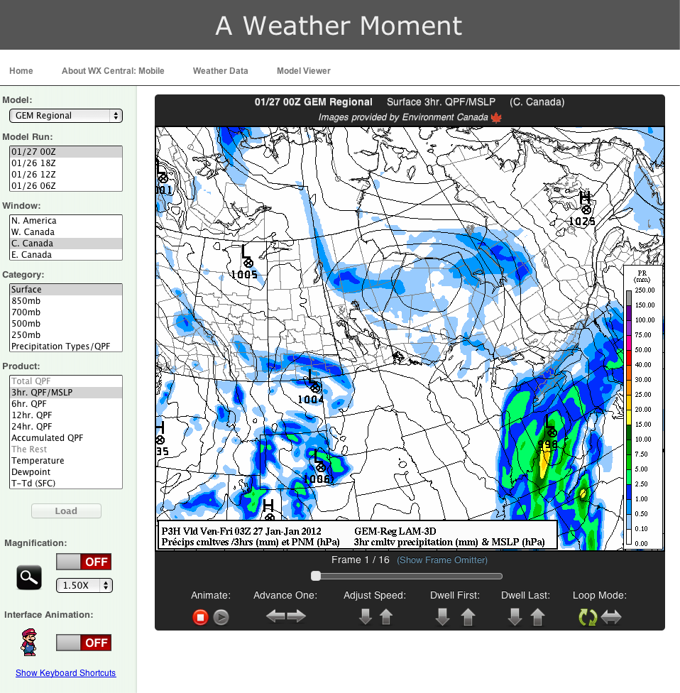A Weather Moment Presents the Model Viewer