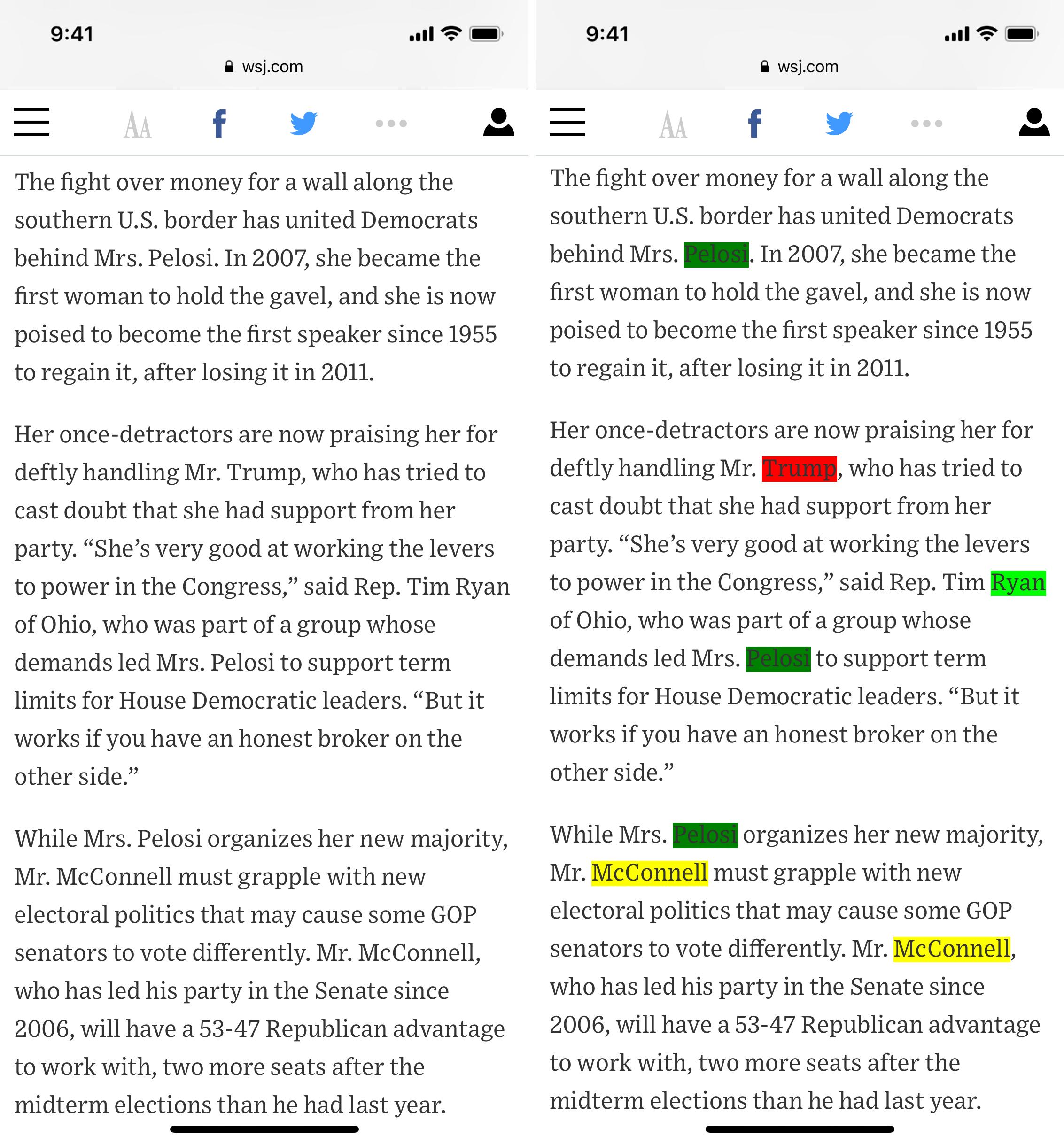用不同颜色标记网页中的关键词
