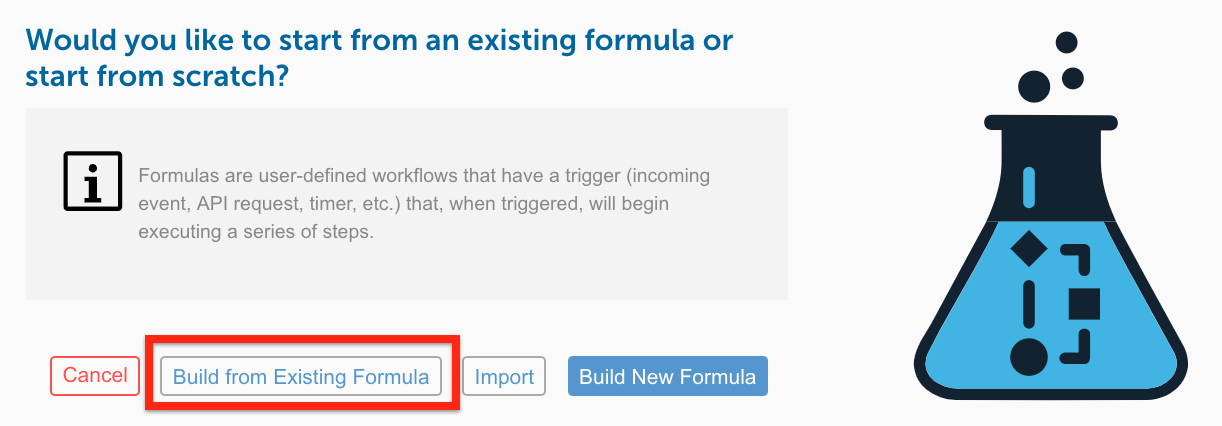 Build From Existing Formula