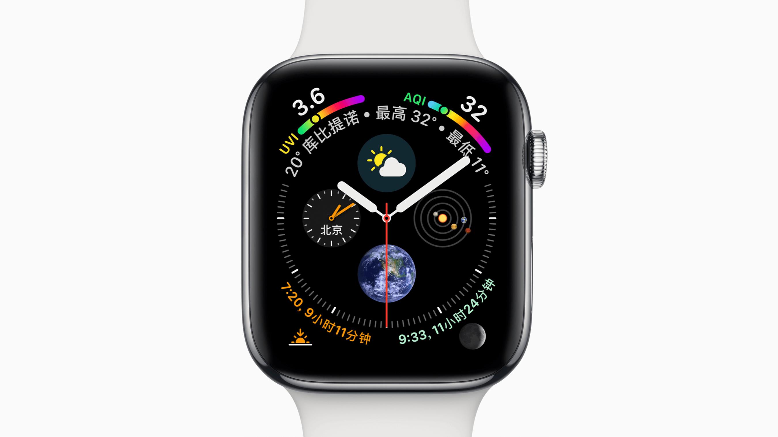 苹果展示的图文表盘「完全体」,细看之下未免显得凌乱