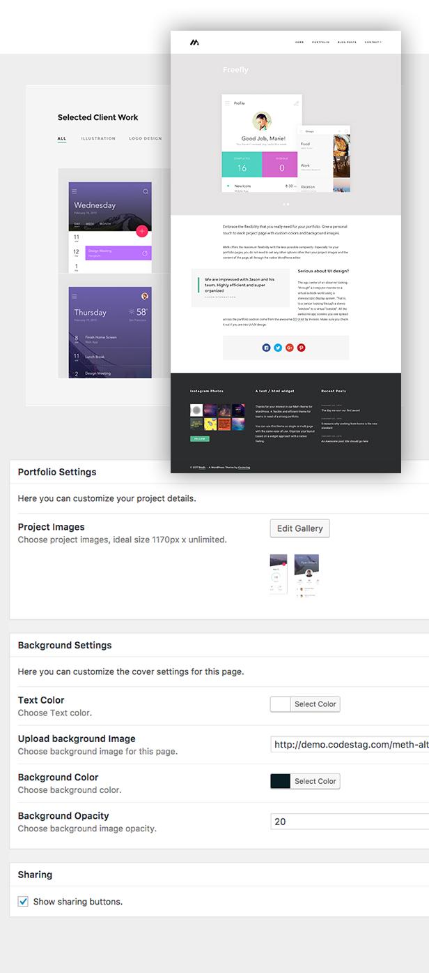 Meth - A Minimal One Page Portfolio Theme - 3