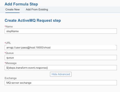 ActiveMQ formula step