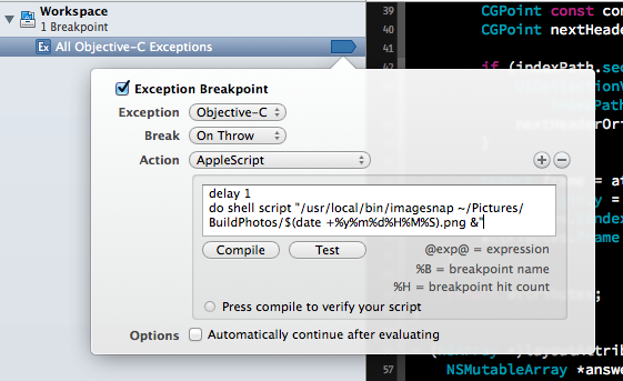 Finished breakpoint