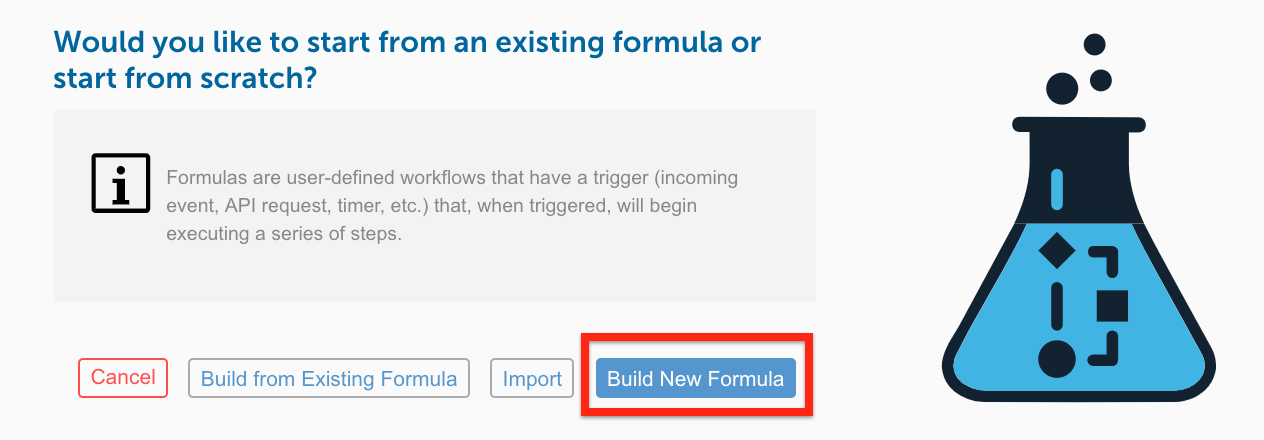 Build New Formula button
