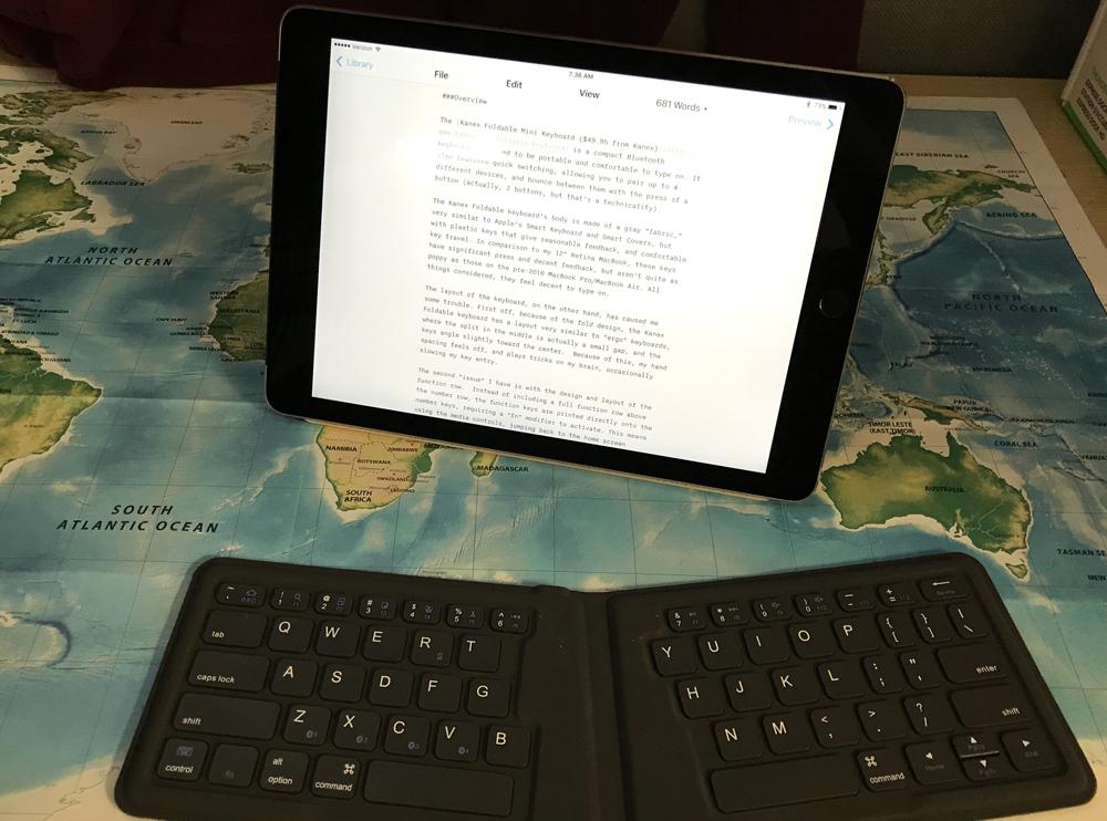 The kanex foldable mini keyboard