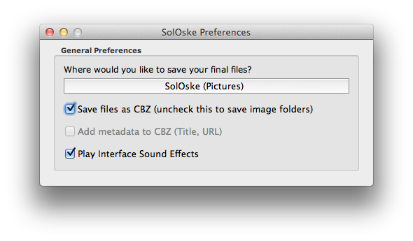 Preferences Screen…