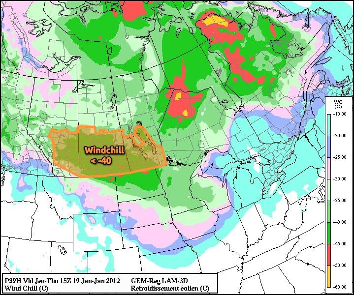 January 19, 1500Z (9AM) Wind Chill Prognosis