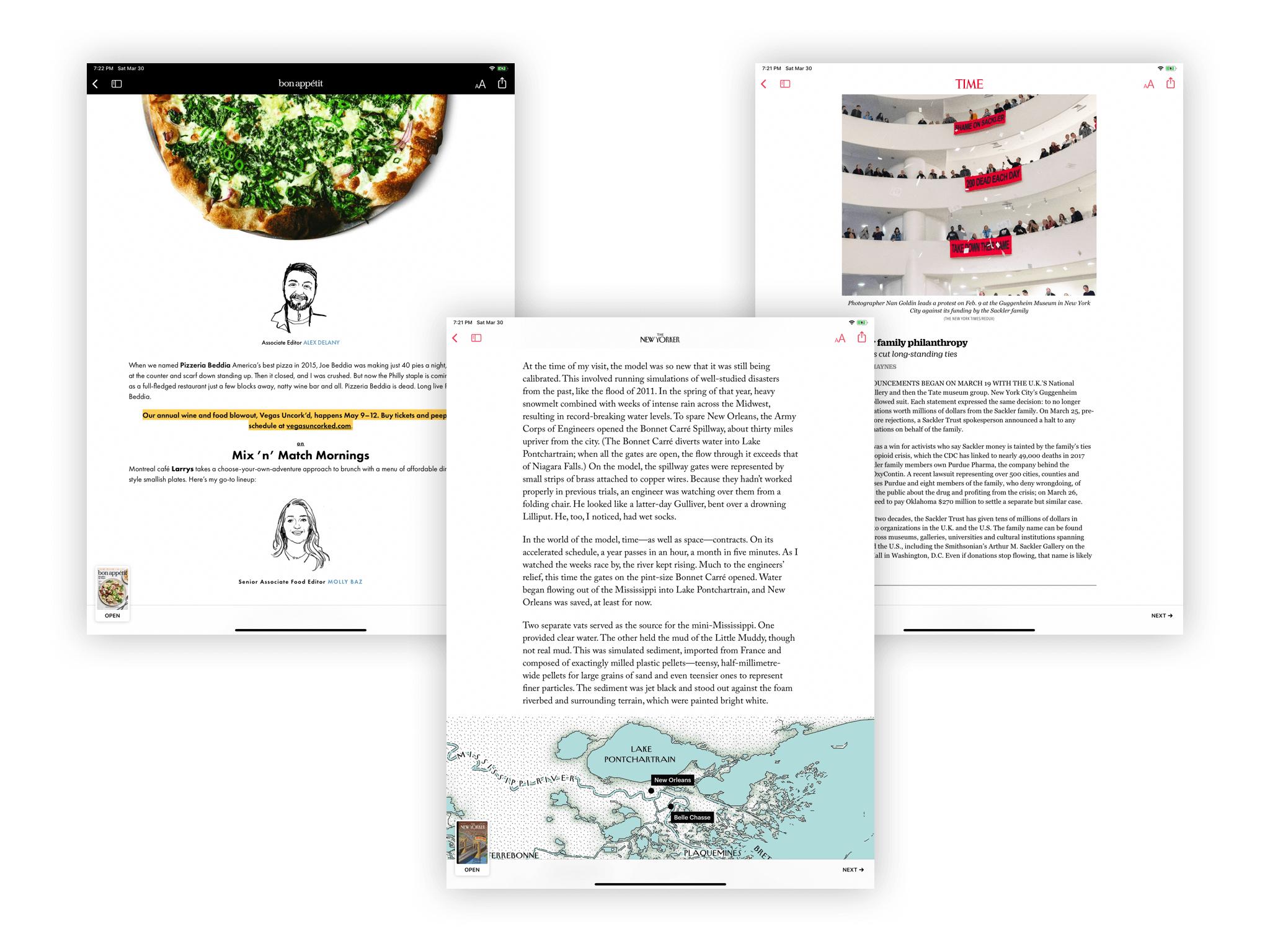 Apple News+ 的内文阅读界面