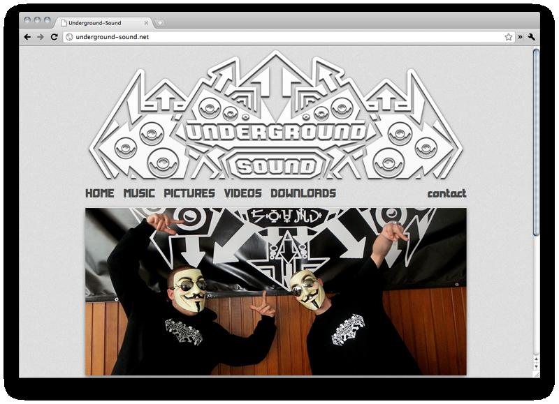 Underground-Sound Home Screenshot