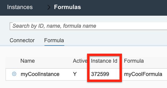 Formula page form ID