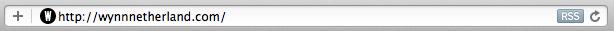 Apple RSS addressbar