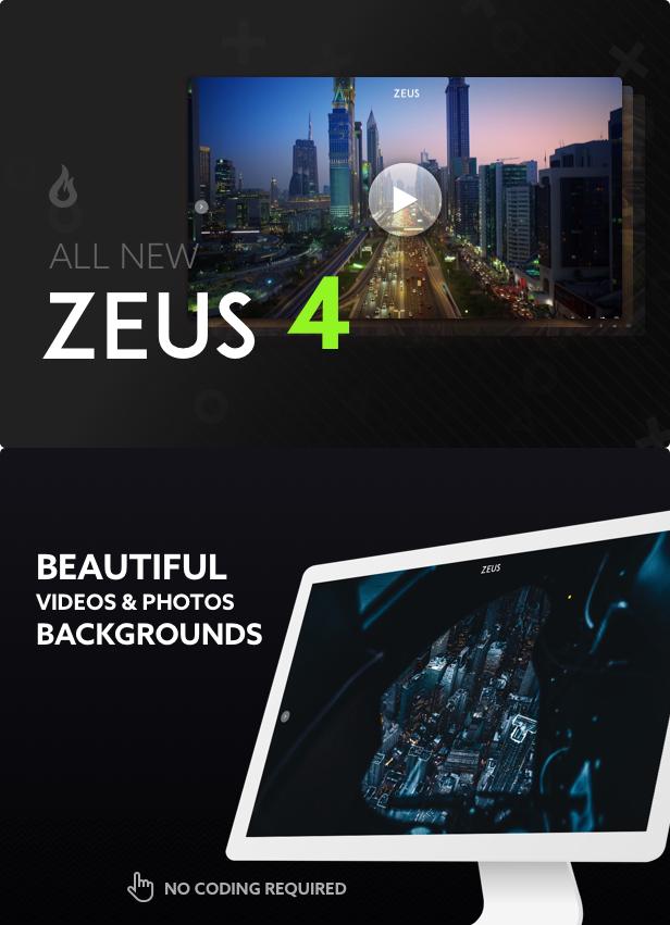 Zeus - Fullscreen Video & Image Background - 1
