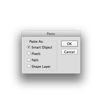 Smart Paste in Photoshop
