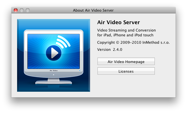 Air Video Server screenshot
